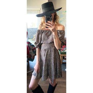 Handmade Vintage Inspired Bell Sleeve Mini Dress